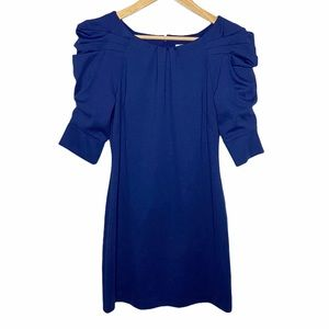 Jessica Simpson bodycon pleated puff sleeves dress
